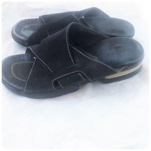 Cole Haan black suede sandals 6 1/2